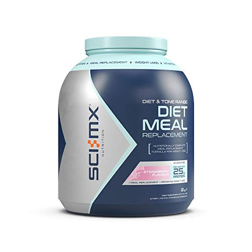 SCI-MX Nutrition Diet Meal Replacement, Protein Powder Meal Shake, 2kg, Strawberry, 37 Servings