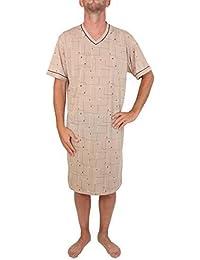 Chemise de nuit de monsieur, manches courtes, 100% Coton, L XL XXL XXXL