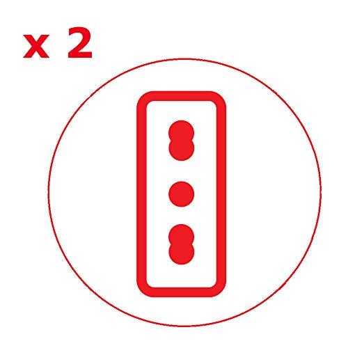 Poly Pool PP2351.1 Adattatore Triplo Spina 16 A, 2 Prese Bivalenti e 1 Presa Pluristandard, Nero