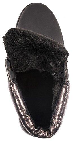 Elara - Stivali da Neve Donna Black/Gun