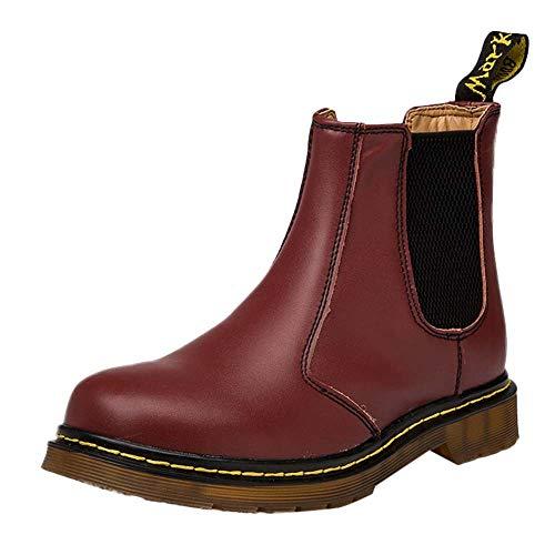 LuckyGirls Botas Militares Color de Mezcla Moda Botas Hombre Moteras Zapatos Zapatillas