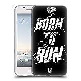 Head Case Designs Born to Run Fitness Typographie Soft Gel Hülle für HTC One A9