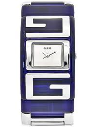 Guess W12055L4 - Reloj analógico de cuarzo para mujer con correa de acero inoxidable, color azul