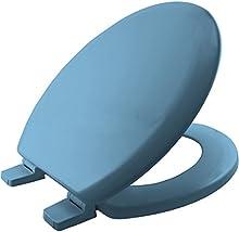 Bemis 5001AR - Chicago Sta-Tite Moldeado De Madera Del Inodoro Con Sta-Tite Plástico Bisagras - Blue Sky
