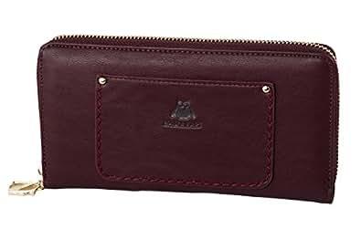 Portefeuille femme NAJ-OLEARI bordeaux compact avec ouverture zip A4844