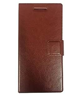 Zocardo Premium Faux Leather Flip case cover for Gionee Marathon M5 - Brown - Premium Cover