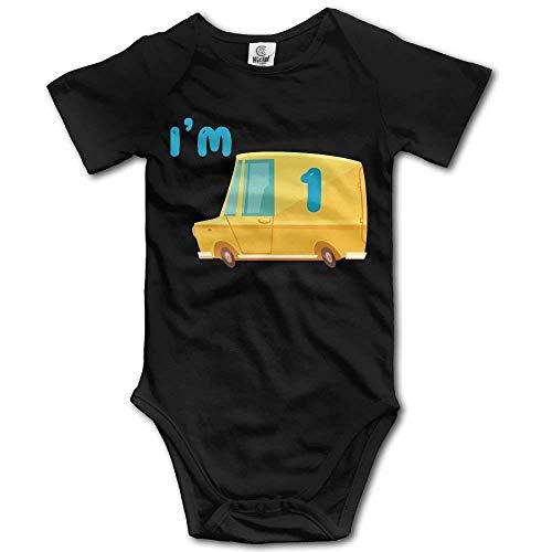 xcvgcxcvasda Toddler Bodysuit Dump Truck I'm 1 Infant Onesie Jumpsuit Cotton Comfortable Cute Pattern (Truck Red Dump)