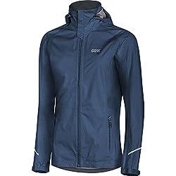 Gore Wear Chaqueta Impermeable Con Capucha De Running Para Mujer Gore-Tex Active Talla 36 Azul Oscuro