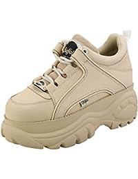 Buffalo London 1339-14 Donna Cream Sneaker-UK 6 / EU 39