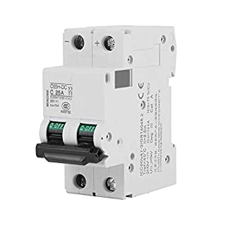 DC Miniature Circuit Breaker 25A/40A 2P 250V Low-voltage for Solar Panels Grid System (25A)