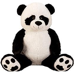 Panda gigante de peluche XXL 100 cm de altura de la felpa animal de peluche de la panda suave y aterciopelada - para el amor