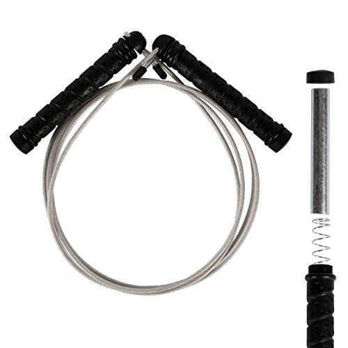 Boxen Gewichte (Springseil aus Stahl Professional Studio Qualität mit herausnehmbaren Gewichten Sprungseil)