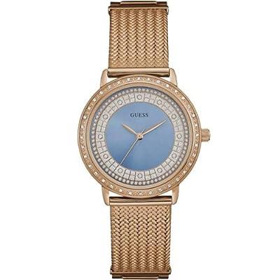 Reloj Guess Willow W0836L1 Mujer Azul Acero chapado oro rosa