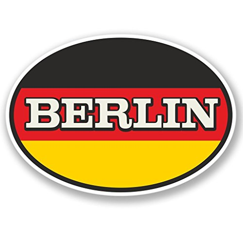 2 x Berlin Fenster kleben Aufkleber Auto Van Wohnmobil Glas #4342