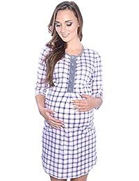 Mija - 2 en 1 Camisón de maternidad & alimentación / amamantamiento 100% algodón 4016