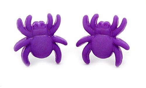 bluebubble-mini-trick-ou-traiter-along-came-a-spider-boucles-doreilles-clous-avec-coffret-cadeau