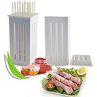 Bazaar 16 Löcher DIY Grill Slicer Box Speisen, Fleisch, Gemüsehobel Box Portable Grill Kebab Werkzeug