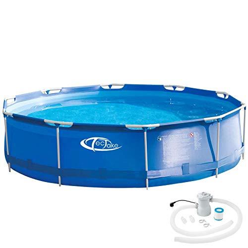 TecTake 800580 - Swimming Pool, Leichter Auf- und Abbau, Robuste und Starke Folie - Diverse Modelle (Typ 3 | Nr. 402896)