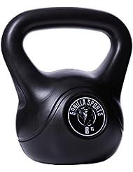 Gorilla Sports Kettlebell Cement 2-20 KG - Gorilla Sports Kunststoff Kugelhantel Schwunghantel Gewichte