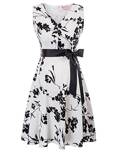 Robe de Grossesse Vintage pour Femme en Lactation Blanche XL
