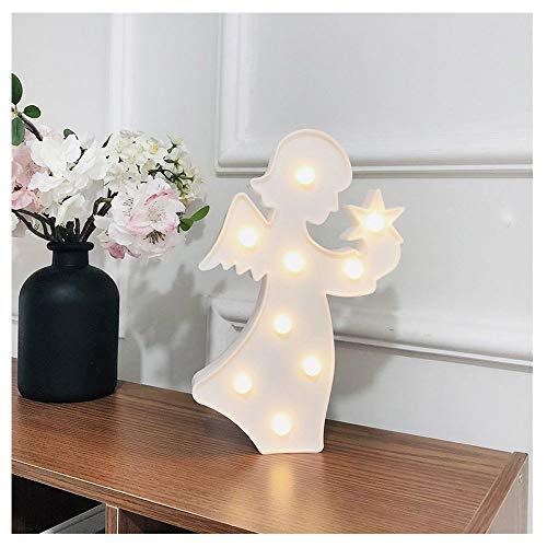 LCLrute Fairy LED Nachtlicht für Kinder, Creative Angel Batteriebetriebene Lampe,für Kinderzimmer, Treppenaufgang,Schlafzimmer, Küche, Orientierungslicht, Halloween Geschenk (Weiß) -