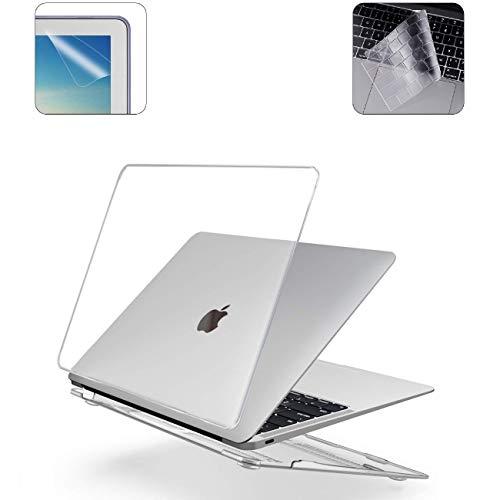 i-Buy Harte Schutzhülle Hülle für Apple MacBook 12 Zoll (Modell A1534) + Tastaturschutz + Schutzfolie- Kristall Klar