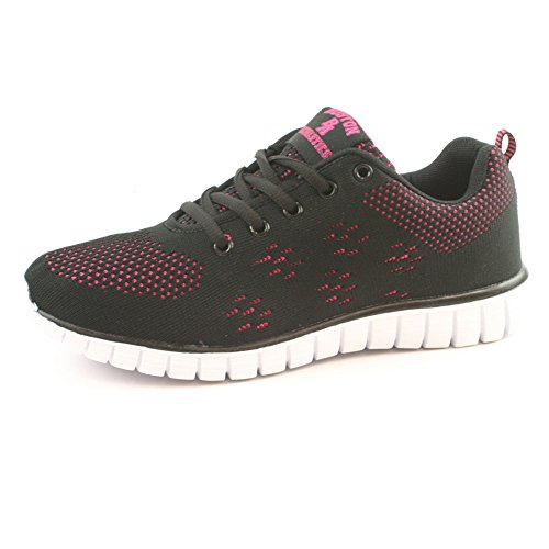 Womens Boston Athletics Shock Absorbing Running Gym Trainers Sizes 3-8 Wave Black...