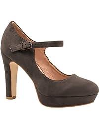 Elara Mujer High Heels | Cómodo horquillas Pumps | correas stilettos | chunkyrayan