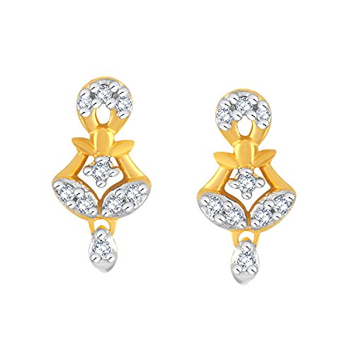 Giantti 14 carats Diamant pour femme Boucles d'oreille à tige (0.2438 CT, VS/Si-clarity, Gh-colour)