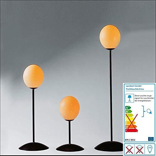 Lambert - Emu - Tischlampe - mit echtem Straußenei - Höhe: 50 cm