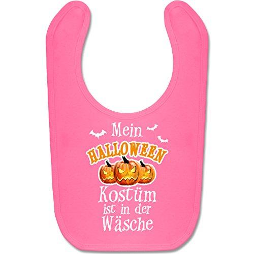 Anlässe Baby - Mein Halloween Kostüm ist in der Wäsche - Unisize - Pink - BZ12 - Süßes Baby Lätzchen als Accessoire für Jungs und Mädchen