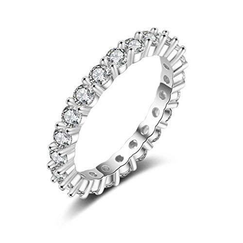 Republe Zirkone Strass Brass Ring Frauen klassischer Art Schmuck Jahrestag Geburtstag Weihnachtsgeschenk
