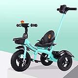 JINHH Tricycle Baby, Tricycle Pliable Bébé, Pédales Antidérapantes, avec Canne...