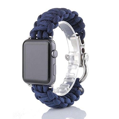 apple-watch-correaculater-pulsera-de-supervivencia-de-cuerda-de-nylon-banda-de-reloj-para-iwatch-42m