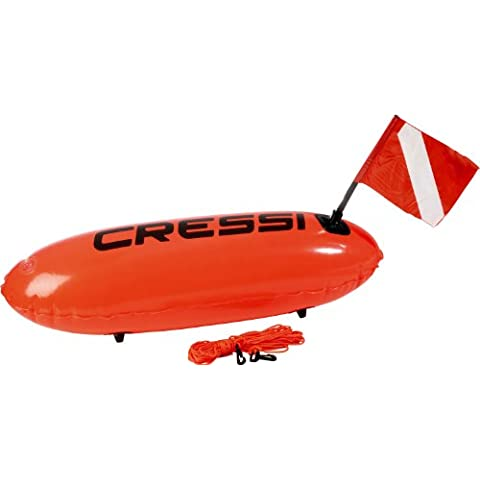 Cressi Torpedo Orange - Boya de amarre para barcos, color naranja