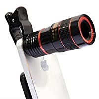 Zoom LED Clip-On Microscope Lens Telephoto Lens Universal 8x Camera Lens HD Focus Lens