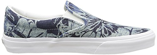 Vans Unisex-Erwachsene Classic Slip-On Sneakers Mehrfarbig (indigo Tropical/blue/true White)