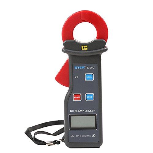 Digital Leckstromzähler für Gleichstrom-Gleichstrom, Bereich DC 0,0mA bis 6,00A, Backengröße 25X30 mm. Ausgestattet mit USB-Schnittstelle Daten-Upload-Funktion, Datenspeicherung 99 Gruppen ETCR6300D p