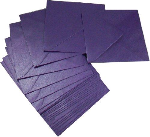 Paper Mate Centura Pearl - Sobre cuadrado (135 x 135 mm, 100 g/m², 25 unidades), color violeta