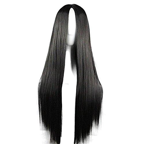 Kostüm Einer Kämmen Perücke - Langhaarperücke, glattes Haar, für Cosplay, hitzefest, 75cm lang
