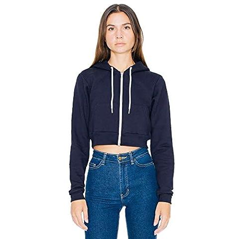 American Apparel - Sweat à capuche - Moderne - Femme - bleu - X-Small