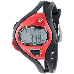 Asics CQAR0506 - Reloj Digital de Cuarzo Unisex con Correa de Silicona, Color Negro