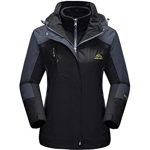 419wLWtcQML. SS500  - TACVASEN Women's 3-in-1 Jackets Waterproof Fleece Jacket Outdoor Skiing Snowboarding Coat