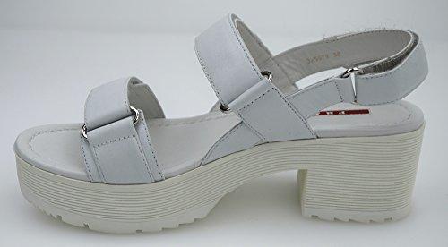 3X5979BIANCO Prada Sandale Femme Cuir Blanc Blanc