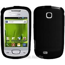 Negro Soft Silicona Funda Case Para Samsung Galaxy Mini S5570