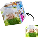 Q&K Foto de Cubo Personalizado Rompecabezas Fotográfico Personalizado Cubo de Rubik Giratorio 3D con 6 Imágenes Cumpleaños Na