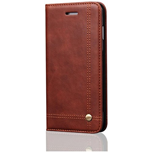 Quicksand Flip Cover For Apple Iphone 6s Plus Leather Case Leather Flip Cover For Apple Iphone 6s Plus Wallet Cases Book Cover Tpu Mobile Holder Mobile Stand Magnet Closure Brown