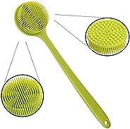 1PCS Massage Brush Soft Silicone Body Brush Long Handle Shower Brush Body Scrub Bath Brush for Back Scrubber Exfoliating Skin Bath Brushes