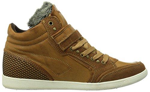 KangaROOS K-Basket 5005 Damen Hohe Sneakers Braun (Marron (Nutbrown 350))