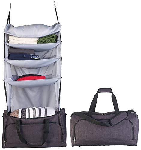 Xcase Koffer Schrank: Faltbare Reisetasche mit integriertem Wäsche-Organizer zum Aufhängen (Handbag-Reisetaschen)